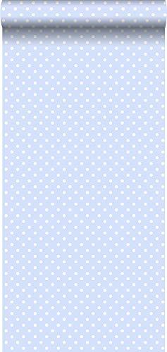 Tapete Punkte Hellblau und Weiß - 115845 - von ESTAhome.nl