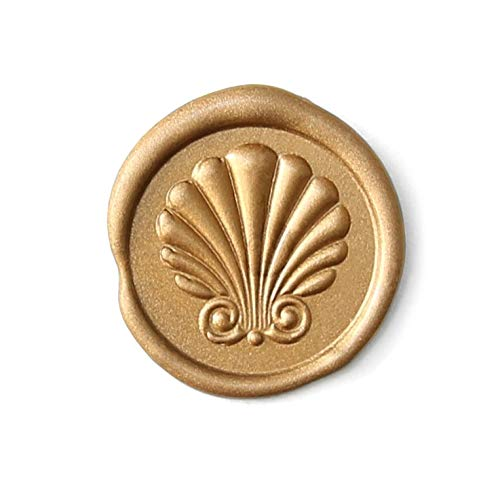 UNIQOOO 3D Seashell Shell Wax Seal Stamp | French Rococo Style Nature Decoration for Beach Wedding Invitation, Ocean Sea Theme Party, DIY Art Project, Gift Wrap, Wine Package, Bullet Journal