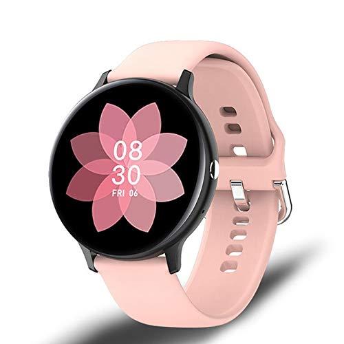 LJMG I11 Smart Full Touch Watch Bluetooth Call Play Music Smartwatch para mujer IP68 Sports Ritmo cardíaco Fitness Tracker reloj deportivo para Android iOS, A