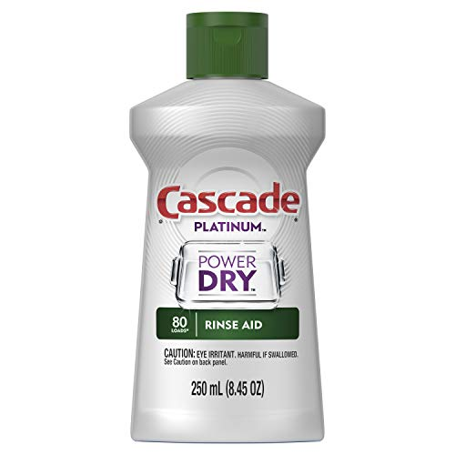 Cascade Platinum Dishwasher Rinse Aid, 8.45 fl oz (Packaging May Vary)