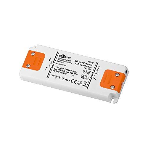 Goobay LED-Transformator; SELV Class II; Konsta, CC-Betrieb 350 mA  0,5 - 12 Watt
