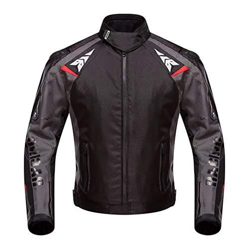 Chaqueta de Motocicleta Hombres Invierno Impermeable A Prueba de Agua Motorista a Prueba de Motos Ropa Ropa Chaqueta Racing Black M