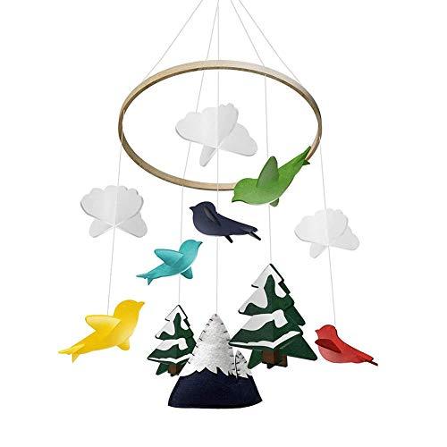 YUIP Baby Campanelli Eolici, Campana di Vento Stile Nordico Decorazione Giostrina Carillon del Vento del Bambino, Decorazione Appendere per Culla Bambino