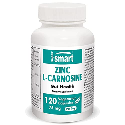 Supersmart - Zinc L-Carnosine 75 mg Per Dose - Integratore Anti-infiammatorio per la Salute Intestinale -...