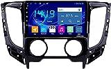 para Mitsubishi Triton L200 2015-2020 Android 10 Radio Coche 2DIN GPS Navi Autoradio Estéreo 9'' Pantalla Táctil Bluetooth FM Mirror Link Control FM USB Cámara Trasera