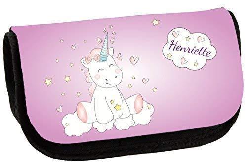 Livingstyle & Wanddesign Kosmetiktasche Schmink-62 (Unicorn Einhorn Cutie) mit Namen, 2 L