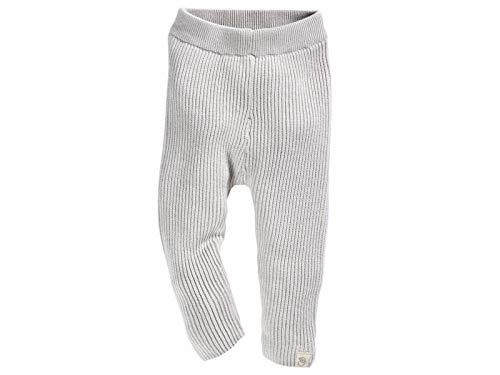 Bio Baby und Kinder Strickleggings 100% Bio-Baumwolle (kbA) GOTS zertifiziert, Hellgrau Melange, 86/92