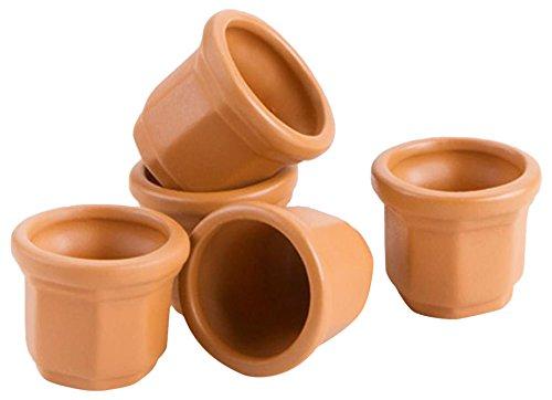DARICE 161533 Mini Clay POTS .87IN 5PC, Multicolor