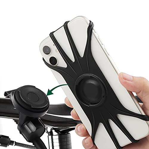 JNUYISW Soporte para Movil Bicicleta, Universal Soporte Movil Bici, Abnehmbare Porta Movil Bicicleta Für iPhone 11 Pro MAX/x/XS Max/xr/8/8 Plus, Samsung S20/s10/s10e