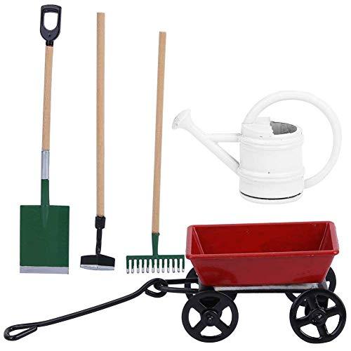 Tnfeeon 1:12 Miniatur Garten Box Landwirtschaft Werkzeuge Modell Metall ziehen warenkorb Landwirtschaft Werkzeuge Set hausgarten möbel zubehör Ornament
