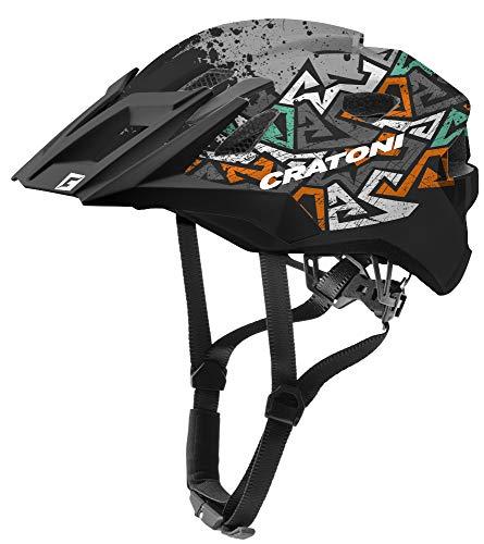 Cratoni Allride Junior Jugend Fahrradhelm Kinderhelm Allround (wildes anthrazit, Uni (53-59 cm))