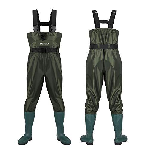 Magreel Vadeadores de Pesca con Botas Impermeables para Pescar Caza Waders Transpirables Ropa Pantalones para Pescador Hombre y Mujer, Material Seguro y Duradero (EU 46 / UK 12)
