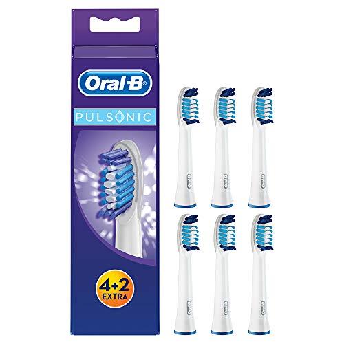 Oral-B Pulsonic Aufsteckbürsten, Passend für alle Oral-B Pulsonic Schallzahnbürsten, 6 Stück