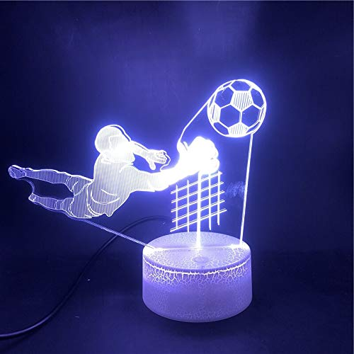 Smartphone Control Football Goalkeeper Sports Best Cool Gift Boy Touch Sensor Indoor Light Bedside Bright Base Night Light