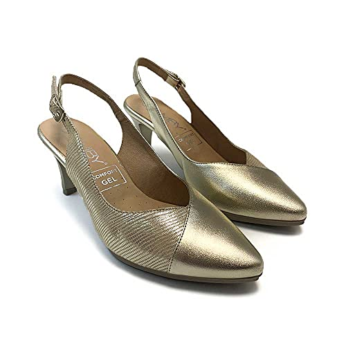 ¡¡Novedad!! Zapatisimos Zapato de Vestir de tacón Piel cómodo de Mujer, Suela...