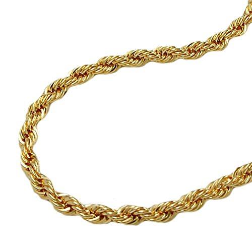 ASS 333 goud koord ketting koord ketting 19 cm 6 mm armband geelgoud 8K
