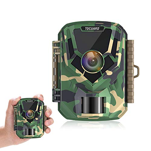 "TOGUARD Mini Trail Camera FHD 1080P 12MP Game Camera 2"" LCD Screen Small Hunting Trap Camera with IR Night Vision 120° Wide Angle Waterproof Video Camera for Wildlife Monitoring and Home Observation"