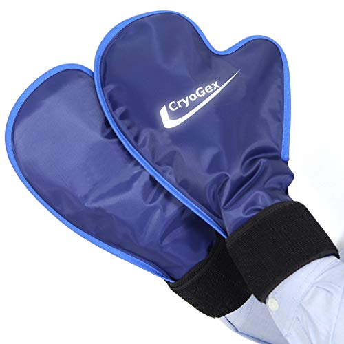 2 Wrist Hand Hot Cold Ice Pack Wraps - High Amount of Gel for High Efficiency - Perfect for Chemo (Set of 2)