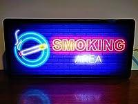 たばこOK! 喫煙 喫煙エリア ネオン風 看板 サイン LED2wayライトBOX