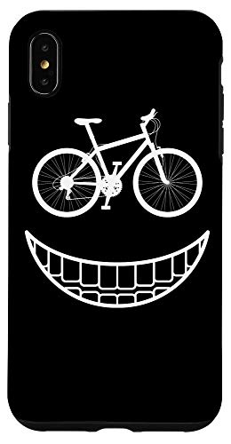 iPhone XS Max Bike Smiley Face Funny MTB Cycling Case