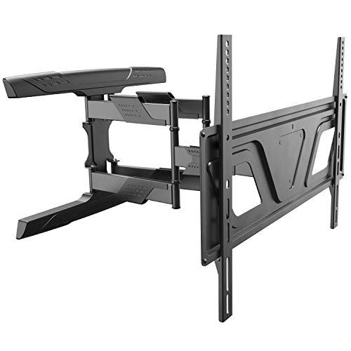 RICOO TV Fernseher-Wand-Halterung Schwenkbar Neigbar (S9564) Universal für 37-80 Zoll (bis 45-Kg, Max-VESA 600x400) Fernsehhalterung Ausziehbar Flach Curved OLED LCD Bildschirm