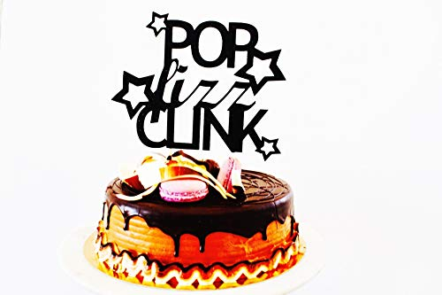 Pop Fizz Clink Cake Topper New Years Eve Topper. Cake Decorations Cake Topper Glitter Cardstock Topper