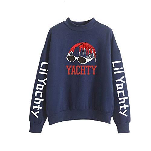 Landove Lil Yachty Pullover Hoge Kraag Unisex met Lange Mouwen