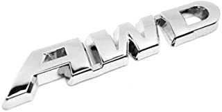 AWD Logo Metal Emblem Sticker Badge Decal for 4 Wheel Drive SUV Off Road Tailgate Honda new CRV Crosstour VEZEL XRV (Silver)