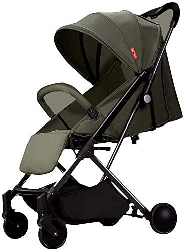 Chilechuan. Passeggino Portatile, Passeggino Leggero Compatto per Bambini reclinabile per Aeroplano, con Manico Bagagli Quando Si Piega, con Cablaggio a 5 Punti (Colore : G)