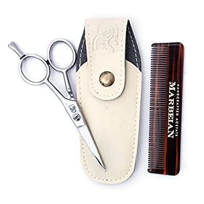 Beard & Moustache Scissors With High Quality Comb For Precise Facial Hair Trimming - Order Your's Now!