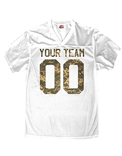 Hardkor Sports Customized Football Jersey White Mesh Digital Camo Team Names Numbers Youth Small