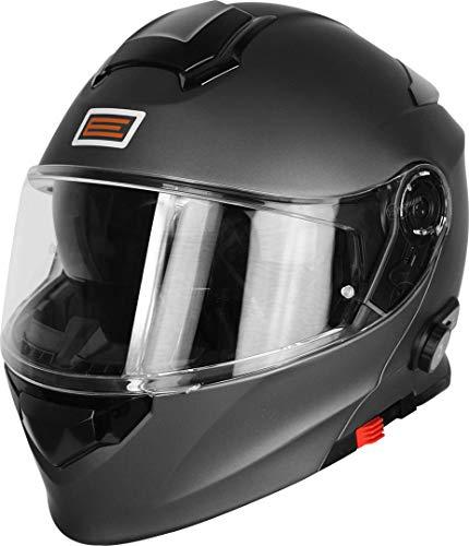 Origine Helmets 204271723600006 Delta Solid Matt Casco Apribile con Bluetooth Integrato, Titanio, XL
