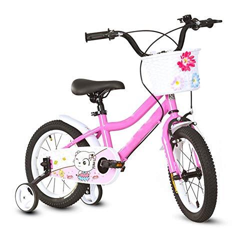 YumEIGE fiets voor kinderen, 14 en 18 inch, schokdemper van koolstofstaal, voor montage met fietsen, fietsen, verstelbare stoel en stuur, kinderfiets, cadeau voor kinderen 14in yellow