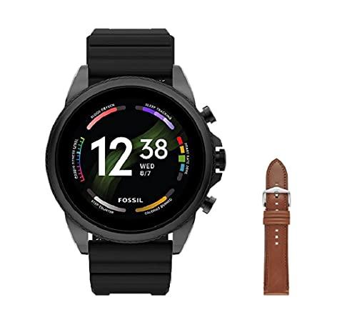 Fossil Herren Touchscreen Smartwatch 6, Generation mit Lautsprecher, Herzfrequenz, NFC und Smartphone Benachrichtigungen + Fossil Armband