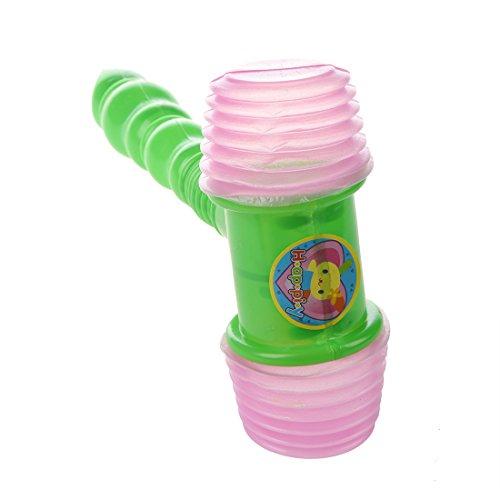 Tashido Juguete de Martillo Silbato de Plastico Verde para Ninos