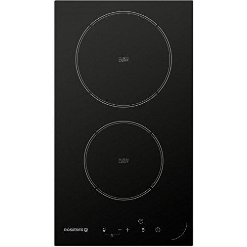 Plaque Vitrocéramique 2 feux-Rosieres RDH32 - Plaque de cuisson Vitrocéramique - Dimensions produit (LxP en cm) : 28.6 / 50.6