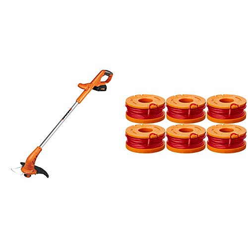Best Prices! WORX WG154 Edger 20V 10 Cordless String Trimmer & WA0010 6-Pack Replacement Trimmer Li...