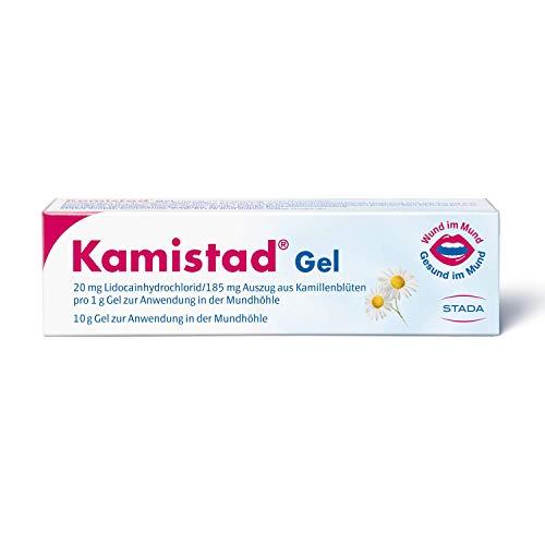 Kamistad Gel - schmerzlinderndes Gel bei leichten Entzündungen des Zahnfleisches und der Mundschleimhaut - hemmt Entzündungen, fördert die Heilung - 10 g, 100 g
