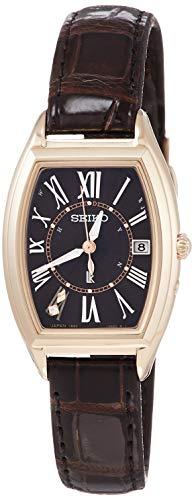 [セイコーウォッチ] 腕時計 ルキア Lady Gold ソーラー電波 チタンモデル トノー型 ダイヤ入り白蝶貝文字盤 サファイアガラス 日常生活用強化防水(10気圧) SSQW048 レディース ブラウン