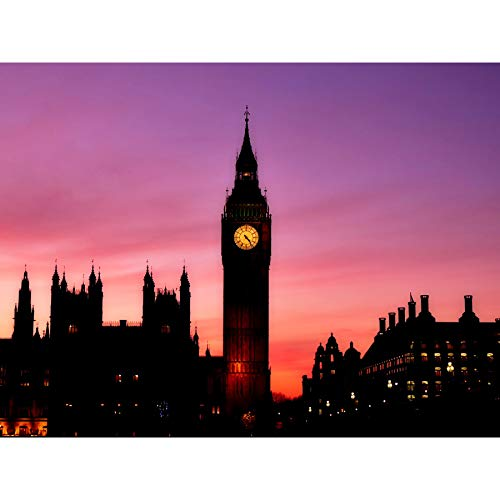 Big Ben Clock London - Lienzo decorativo para pared, diseño de reloj de Londres