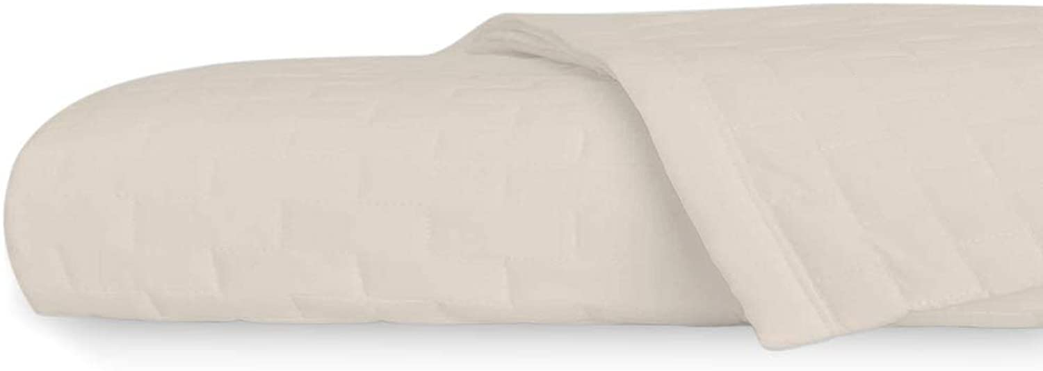 Jennifer Adams Home Eternal Madison Quilted Blanket, Easy on Allergies and Wrinkle Resistant (King California King, Ivory)