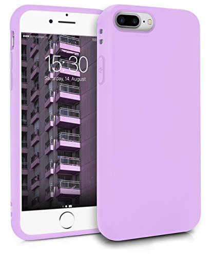 MyGadget Friendly Pocket Custodia TPU per Apple iPhone 7 Plus / 8 Plus - Case Morbida Bordi Rinforzati – Cover Silicone Antiurto e AntiGraffio - Lilla