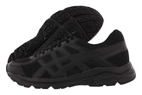ASICS Women's Gel-Contend 4 Running Shoe (Black/Onyx/Midnight Black Size: 3.5 UK