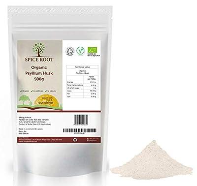 Organic Psyllium Husk 500g - Certified Organic, Premium Quality from Spice Root