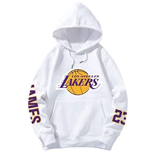 DHRBK Hombres NBA Hoodie/Lebron James 23# Los Angeles Lakers Thicken Sudaderas