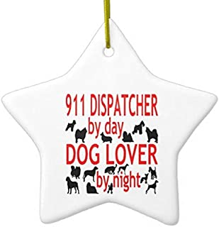 Hanging Ornament by Valentine Herty Dog Lover 911 Dispatcher 3 Inches Porcelain
