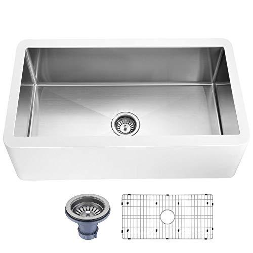 Anzzi Vanguard Series Undermount Stainless Steel 32 in. 0-hole Single Bowl Kitchen Sink