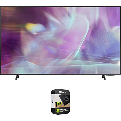 Samsung QN50Q60AA 50 Inch QLED 4K UHD Smart TV (2021) Bundle with Premium 1 Year Extended Protection Plan