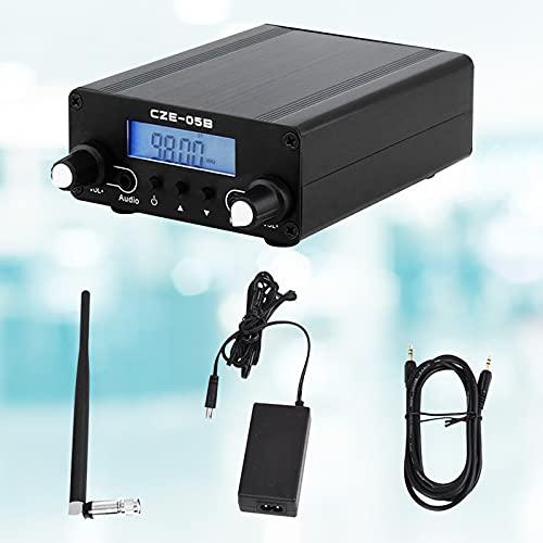Kacsoo Trasmettitore FM, Sistema di Trasmissione stereo da 0.5 W, PLL Radio Broadcast Station con antenna wireless e display digitale, per stazione radio Chiesa Car Theater