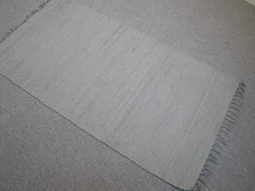 Garmisch Kelim - Maglia a mano in India, tinta unita, 100% cotone, tessuto a mano (170 x 120 cm)
